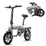 HITWAY Bicicleta eléctrica E Bike Bicicletas urbanas Bicicleta Plegable Bicicleta Fabricada en Aluminio de aviación, batería de 7.5Ah, Motor de 250...