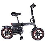 Windgoo Bicicleta eléctrica, Bicicleta eléctrica Plegable con Motor de 250W, Bicicleta eléctrica de 14'para Adultos, 25 km/h, batería de Iones de...