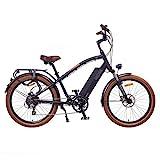 NCM Miami 26' Bicicleta eléctrica Cruiser Retro E-Bike 48V Batería 16Ah 768Wh Negro