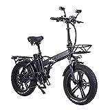 SAWOO Bicicleta Eléctrica 750w Fat Bike 20 Pulgadas Fat Bike Bicicleta Electrica Plegable 20ah Batería De Litio Bicicleta Electrica Montaña Nieve...