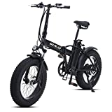 GUNAI Bicicleta Eléctrica 500W 20 Pulgadas 48V 15Ah Neumático Gordo Ciclismo de Playa Bicicleta de Montaña Suspensión Completa MTB Ebike 7...