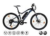 F.lli Schiano Braver Bicicleta eléctrica, Adultos Unisex, Negro-Azul, 27.5''