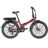 Legend Siena Bicicleta Eléctrica Plegable Urbana Smart eBike Ruedas de 24 Pulgadas, Frenos de Disco Hidráulicos, Batería 36V 10.4Ah Panasonic...