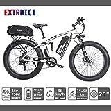 eléctrica Bicicleta para hombres Extrbici 750W 48V 26 pulgadas Bicicleta de montaña para adultos Nieve VTC Neumático grande Tres modos de...