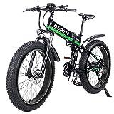 GUNAI Bicicleta eléctrica de montaña, 26' 1000W Batería 48V E-Bike Sistema de Transmisión de 21 Velocidades con Linterna con Batería de Litio...