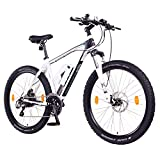 NCM Prague Plus Bicicleta eléctrica de montaña, 250W, Batería 36V 14Ah 504Wh (Blanco 27,5')