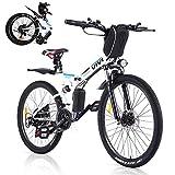 Vivi Bicicleta Eléctrica Plegable, 250 W Motor para Bicicleta De Montaña Eléctrica para Adultos, 26 Pulgadas E-Bike, Engranaje De 21 Velocidad De...
