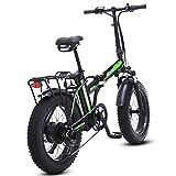 500W eléctrica plegable bicicletas, 48V para hombre bicicletas 7 Velocidad Variable 4 pulgadas Fat Tire camino de la bicicleta de la bici con nieve...