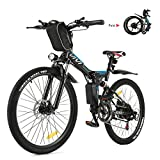 Vivi Bicicleta Eléctrica Plegable, 26' Bicicleta Montaña Adulto, Bicicleta Electrica Montaña, 250W Bicicletas Electricas Plegables con Batería...